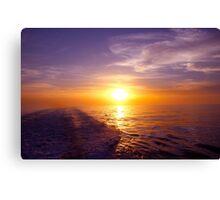 Trailing Sun Atlantic Ocean Canvas Print