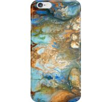 fluid acrylic abstract painting by artist holly anderson FLOURISH iPhone Case/Skin