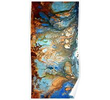 fluid acrylic abstract painting by artist holly anderson FLOURISH Poster