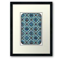 Back of divination card Framed Print