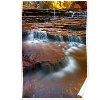 Archangel Falls, Left Fork of the North Creek, Zion Poster