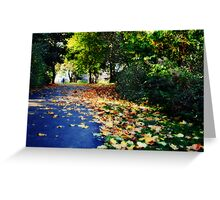 Autumnal walk Greeting Card
