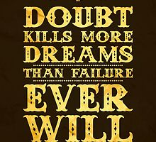 Doubt kills more dreams than failure ever will. by nektarinchen