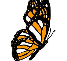 Orange Monarch Butterfly by davidharryart