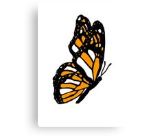 Orange Monarch Butterfly Canvas Print