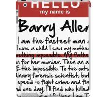 My name is Barry Allen – Season One iPad Case/Skin