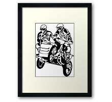 Sidecar Moto Cross Framed Print