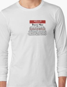 My name is Barry Allen – Season One Long Sleeve T-Shirt