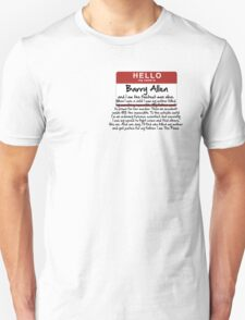 My name is Barry Allen – Season One Unisex T-Shirt
