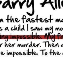 My name is Barry Allen – Season One Sticker