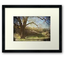 You and Me Under the Old Oak Tree Framed Print