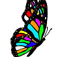 Rainbow Butterfly by davidharryart