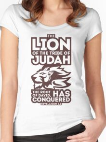 The Lion of the tribe of Judah Women's Fitted Scoop T-Shirt