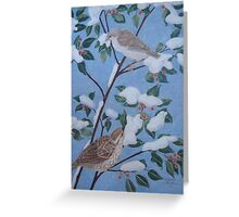 Sparrows in Winter Greeting Card