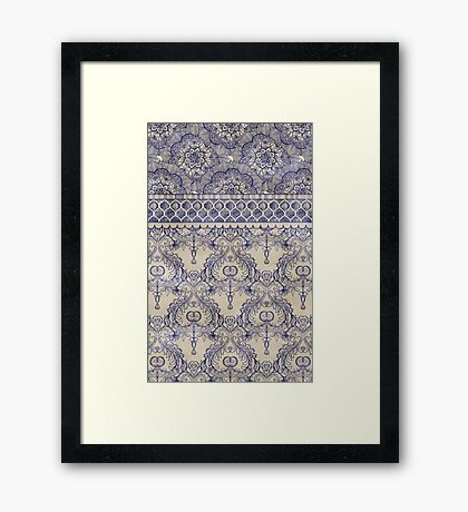Vintage Wallpaper Framed Print