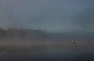 Early Morning Boat Ride - Bonnechere River, Ontario  by Debbie Pinard