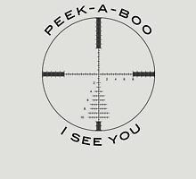 Cross Hairs - Peek-A-Boo (Black) Unisex T-Shirt