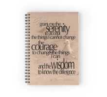 Serenity Prayer 03 © Vicki Ferrari Spiral Notebook