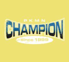 Pokemon Champion_Blue_DarkBG One Piece - Short Sleeve