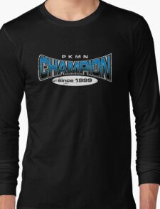 Pokemon Champion_Blue_DarkBG Long Sleeve T-Shirt