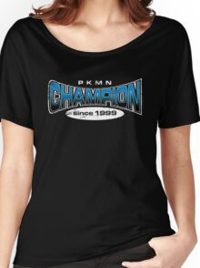 Pokemon Champion_Blue_DarkBG Women's Relaxed Fit T-Shirt