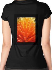 hot poker on black Women's Fitted Scoop T-Shirt