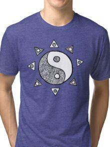 yin yang sun Tri-blend T-Shirt
