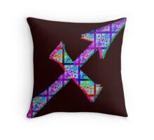 Sagittarius Psychedelic Throw Pillow