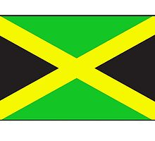 JAMAICA, Jamaican Flag, Flag of Jamaica, Caribbean Island, Pure & Simple by TOM HILL - Designer