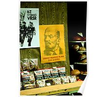 Marxist Poster on Display Window of Bookstore Poster