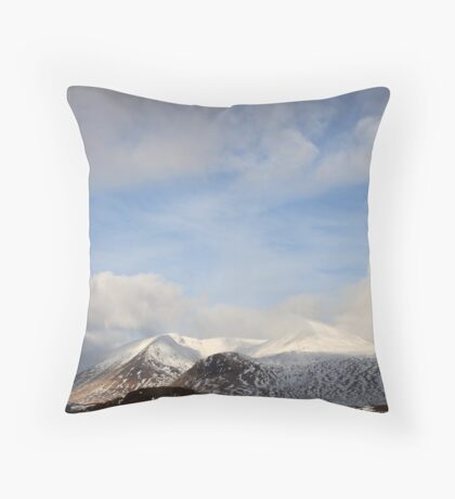 Rannoch moor - winter 2 Throw Pillow
