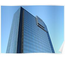 Modern Blue Mirrored Glass Building Architectural Exterior Poster