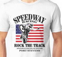 USA Speedway Motorcycle Racing Unisex T-Shirt
