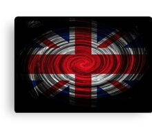 United Kingdom Twirl Canvas Print