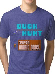 Duck Hunt & Super Mario Bros Tri-blend T-Shirt