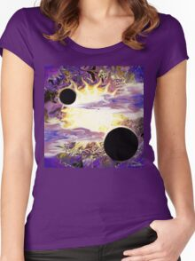 Star in Nebula Women's Fitted Scoop T-Shirt