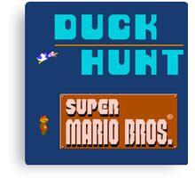 Duck Hunt & Super Mario Bros Canvas Print
