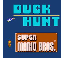 Duck Hunt & Super Mario Bros Photographic Print