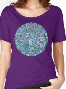 Her Garden in Blue Women's Relaxed Fit T-Shirt