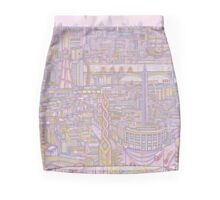 THE MEGATROPOLIS (warm hues) Mini Skirt