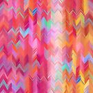 Colorful painted chevron pattern by micklyn