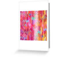 Colorful painted chevron pattern Greeting Card