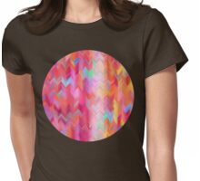 Colorful painted chevron pattern Womens Fitted T-Shirt