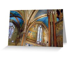 St. Francis Basilica Ceiling Greeting Card