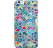 Pretty Pastel Moroccan Tile Mosaic Pattern iPhone Case/Skin