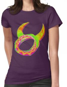 Taurus Psychedelic Womens Fitted T-Shirt