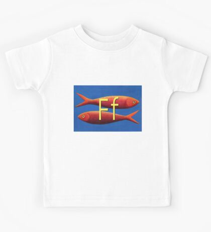 F for fish Kids Tee