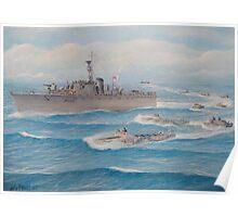 Flotilla 25, Royal Marines, Malaya 1945 Poster