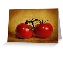 dos tomatoes Greeting Card