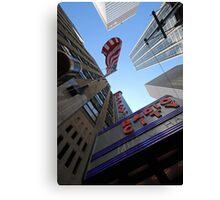 Looking up in New York Canvas Print